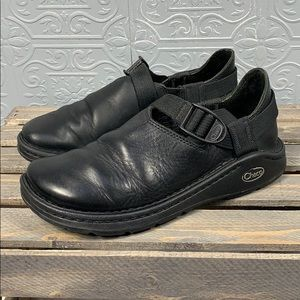 Chaco Pedshed Black Leather - Size 7